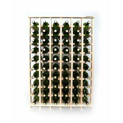 Premium Cellar Series 60 Bottle Floor Wine Rack Finish: Pine
