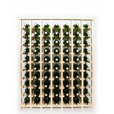 Premium Cellar Series 70 Bottle Floor Wine Rack Finish: Pine