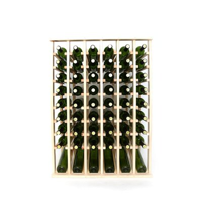 Premium Cellar Series 60 Bottle Floor Wine Rack Finish: Pine
