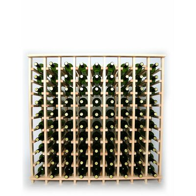 Premium Cellar Series 90 Bottle Floor Wine Rack Finish: Pine