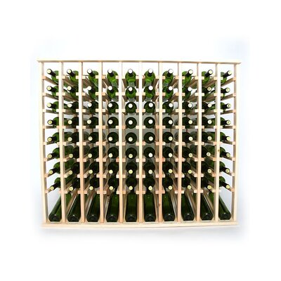 Premium Cellar Series 100 Bottle Floor Wine Rack Finish: Pine