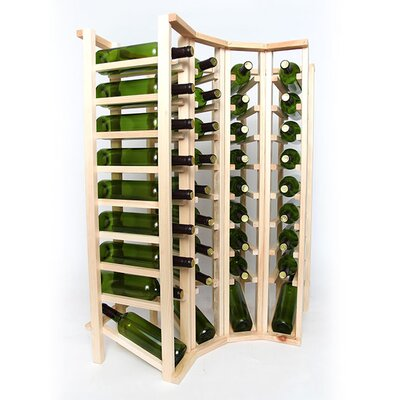 Premium Cellar Series 40 Bottle Floor Wine Rack Finish: Pine