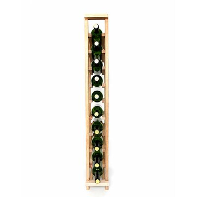 Premium Cellar Series 10 Bottle Floor Wine Rack Finish: Oak