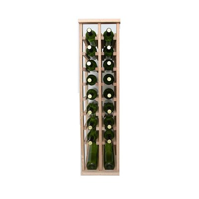 Premium Cellar Series 20 Bottle Floor Wine Rack Finish: Oak