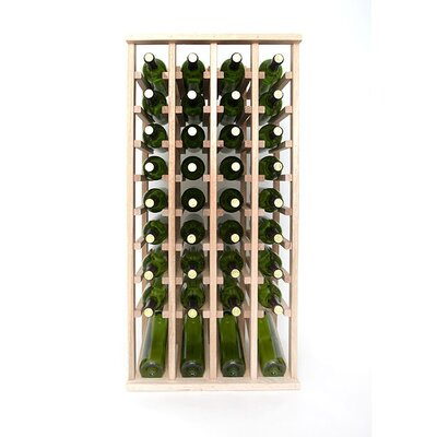 Premium Cellar Series 40 Bottle Floor Wine Rack Finish: Oak