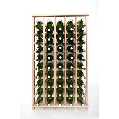 Premium Cellar Series 50 Bottle Floor Wine Rack Finish: Oak