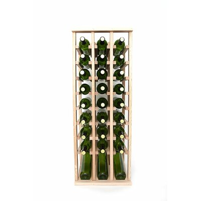 Premium Cellar Series 30 Bottle Floor Wine Rack Finish: Oak