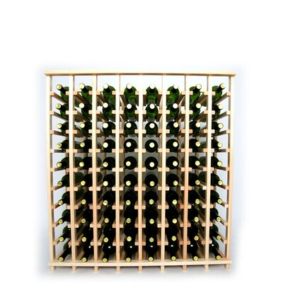 Premium Cellar Series 80 Bottle Floor Wine Rack Finish: Pine