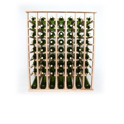 Premium Cellar Series 70 Bottle Floor Wine Rack Finish: Oak
