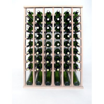 Premium Cellar Series 60 Bottle Floor Wine Rack Finish: Oak