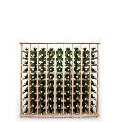 Premium Cellar Series 90 Bottle Floor Wine Rack Finish: Oak