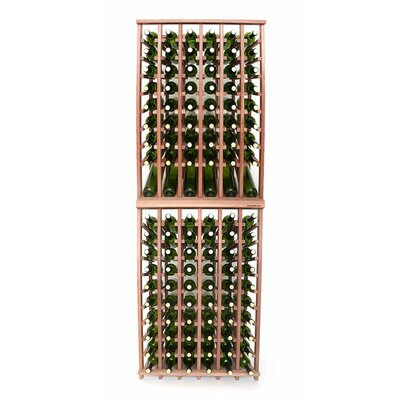 Premium Cellar Series 120 Bottle Floor Wine Rack Finish: Mahogany