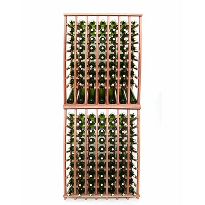 Premium Cellar Series 140 Bottle Floor Wine Rack Finish: Mahogany
