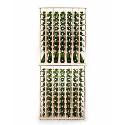 Premium Cellar Series 140 Bottle Floor Wine Rack Finish: Oak