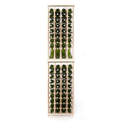 Premium Cellar Series 80 Bottle Floor Wine Rack Finish: Oak