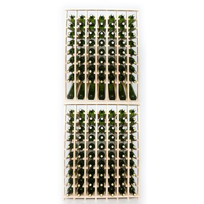 Premium Cellar Series 140 Bottle Floor Wine Rack Finish: Pine