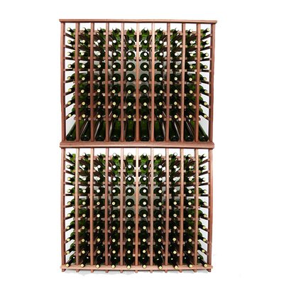 Premium Cellar Series 200 Bottle Floor Wine Rack Finish: Mahogany