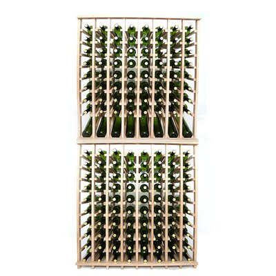 Premium Cellar Series 160 Bottle Floor Wine Rack Finish: Oak