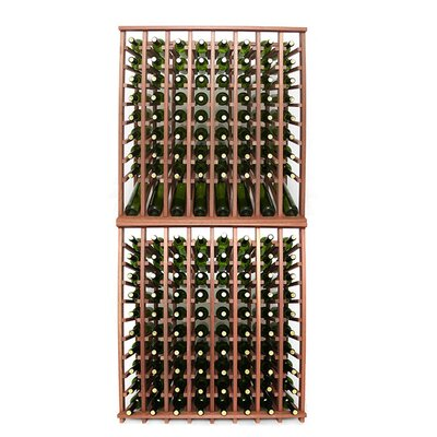 Premium Cellar Series 160 Bottle Floor Wine Rack Finish: Mahogany