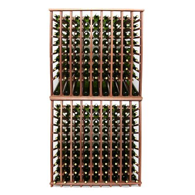 Premium Cellar Series 180 Bottle Floor Wine Rack Finish: Mahogany