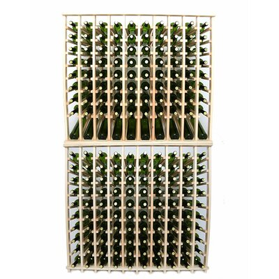 Premium Cellar Series 200 Bottle Floor Wine Rack Finish: Pine