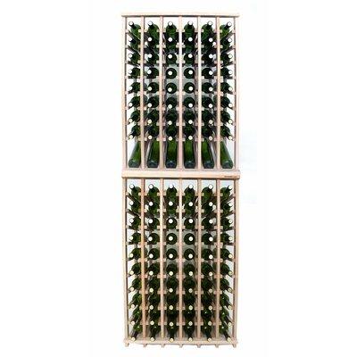 Premium Cellar Series 120 Bottle Floor Wine Rack Finish: Oak