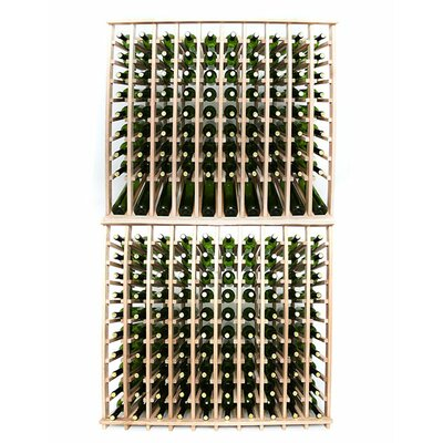 Premium Cellar Series 200 Bottle Floor Wine Rack Finish: Oak