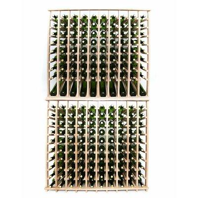 Premium Cellar Series 200 Bottle Floor Wine Rack Finish: Oak