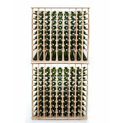 Premium Cellar Series 180 Bottle Floor Wine Rack Finish: Oak