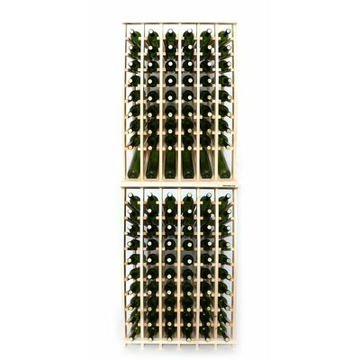 Premium Cellar Series 120 Bottle Floor Wine Rack Finish: Pine