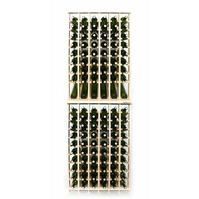 Premium Cellar Series 120 Bottle Floor Wine Rack Finish: Pine