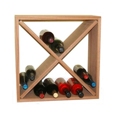 24 Bottle Floor Wine Rack Finish: Mahogany