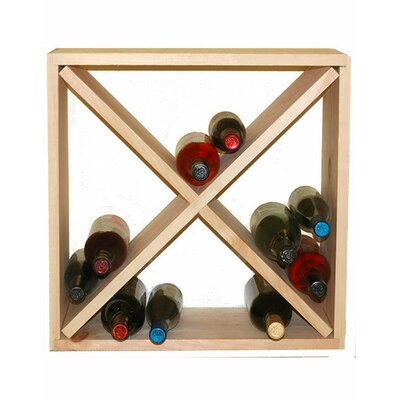 24 Bottle Floor Wine Rack Finish: Pine