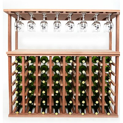 48 Bottle Floor Wine Rack Finish: Mahogany