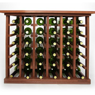 36 Bottle Floor Wine Rack Finish: Mahogany