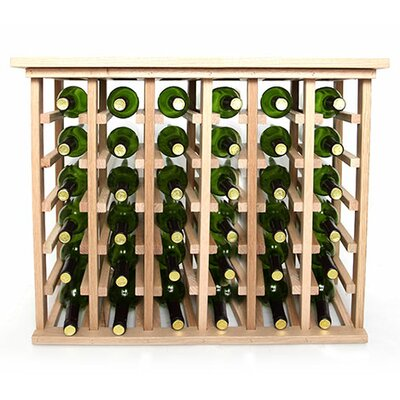 36 Bottle Floor Wine Rack Finish: Oak