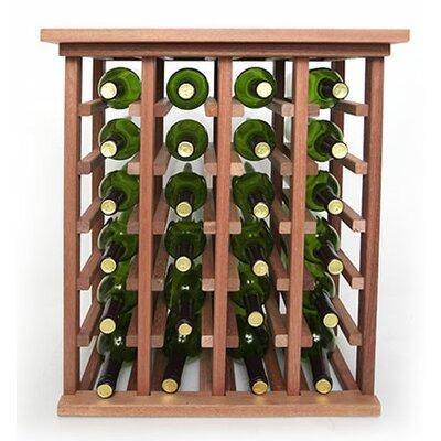 24 Bottle Floor Wine Rack Finish: Mahogany