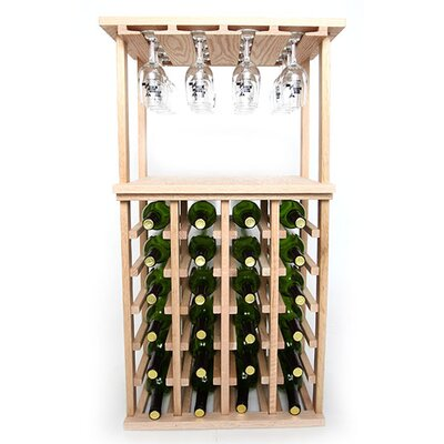 24 Bottle Floor Wine Rack Finish: Oak