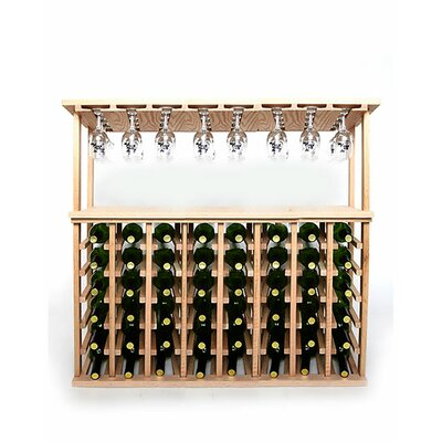 48 Bottle Floor Wine Rack Finish: Oak