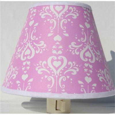 Damask Night Light Color: Pink
