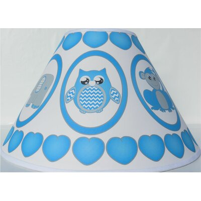 Safari 11 Fabric Empire Lamp Shade Color: Blue