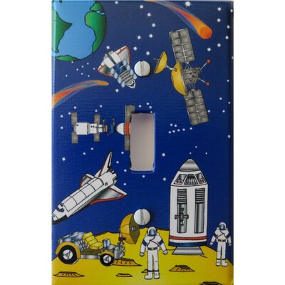 Outer Space Light Switch Plate