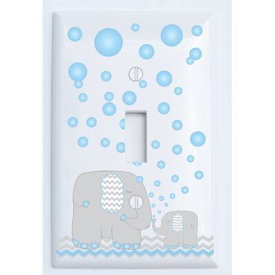 Bubbles and Elephant Light Switch Plate Cover