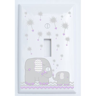 Dandelion Elephant Light Switch Plate Cover