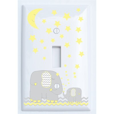 Elephant Light with Stars Switch Plate Cover