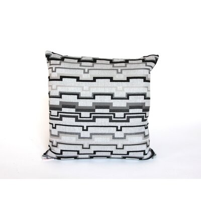 Elite Momentum Indoor/Outdoor Sunbrella Throw Pillow Size: 24 H x 24 W x 6 D, Color: Graphite