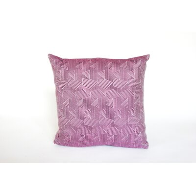 Elite Deco Divide Indoor/Outdoor Sunbrella Throw Pillow Size: 18 H x 18 W x 6 D, Color: Imperial Purple
