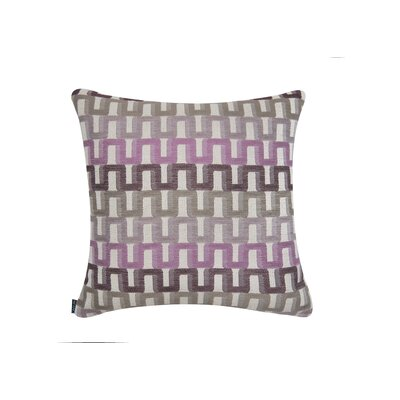 Elite Color Path Indoor/Outdoor Sunbrella Throw Pillow Size: 18 H x 18 W x 6 D, Color: Purple
