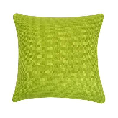 D�cor Alyssa Luvs Indoor/Outdoor Throw Pillow Size: 18 H x 18 W x 6 D, Color: Lemon Grass