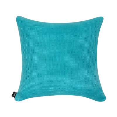 D�cor Alyssa Luvs Indoor/Outdoor Throw Pillow Size: 18 H x 18 W x 6 D, Color: Caribbean Blue